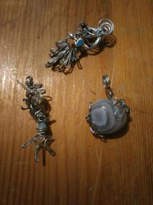 Miniatures en fils de fer